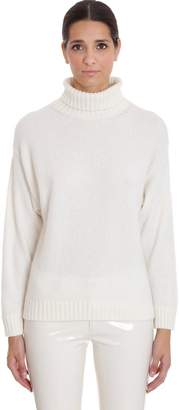 Laneus Knitwear In White Cashmere