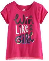 "adidas Girls 4-6x Win Like A Girl"" Criss-Cross Back Tee"