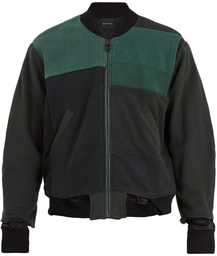 Longjourney Patchwork cotton bomber-jacket