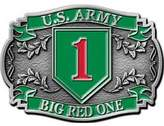 FindingKing U.S. Army Big Red 1 Belt Buckle