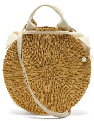 Muun Rosa Straw Basket Bag - Beige Multi
