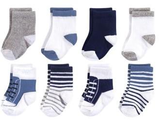 Luvable Friends Crew Sock 8pk (Baby Boys)