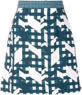 Carven graphic print mini skirt