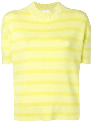 Barrie Striped Short-Sleeve Sweater