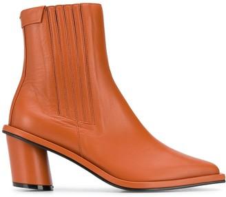 Reike Nen cylinder heel ankle boots