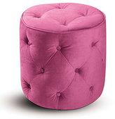 Pink Tufted Velvet Round Ottoman