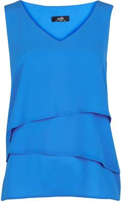 Wallis PETITE Blue Tiered Camisole Top