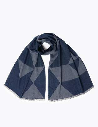 M&S CollectionMarks and Spencer Jacquard Diamond Design Blanket Scarf
