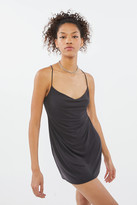 Urban Outfitters Mallory Cupro Cowl Neck Slip Dress