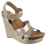 Sam Edelman Nelson Platform Metallic Leather Wedge Sandals