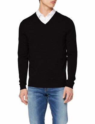 Selected Men's Slhtower New Merino V-Neck B Noos Jumper