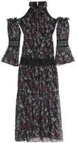 Nicholas Cold-Shoulder Floral-Print Silk-Chiffon Maxi Dress