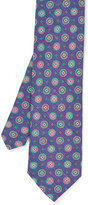 J.Mclaughlin Italian Linen & Silk Tie in Medallion