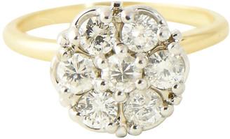 One Kings Lane Vintage Midcentury Diamond & 10K Gold Ring - Owl's Roost Antiques