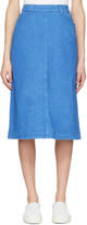 Stella McCartney Blue Denim Skirt