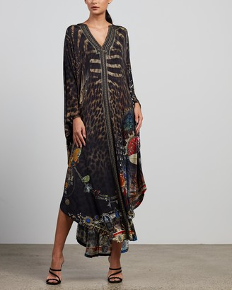 Camilla Women's Multi Midi Dresses - Jersey Long Kaftan with Rounded Hem - Size One size at The Iconic