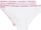 Calvin Klein Modern Cotton bikini briefs pack of two 4-16 years