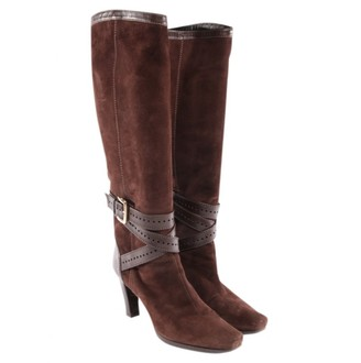 Sergio Rossi Brown Suede Boots
