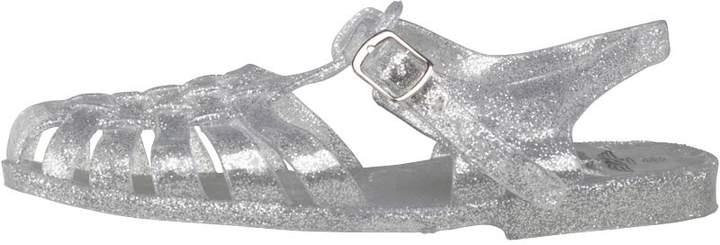 Board Angels Junior Girls Fisherman Jelly Sandals Clear/Silver Glitter
