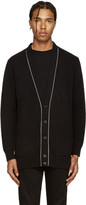 Givenchy Black Wool Chain Cardigan