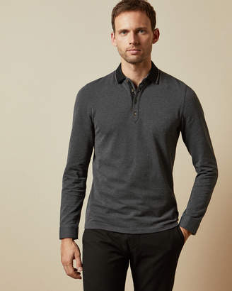 Ted Baker CUPTEA Long sleeved striped polo