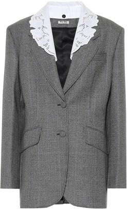 Miu Miu Virgin-wool blazer