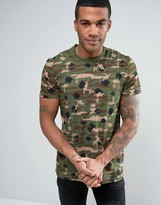 New Era T-Shirt With All Over Camo Print