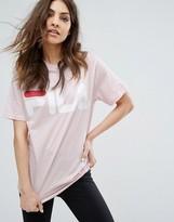 Fila Oversized Boyfriend T-Shirt With Large Logo