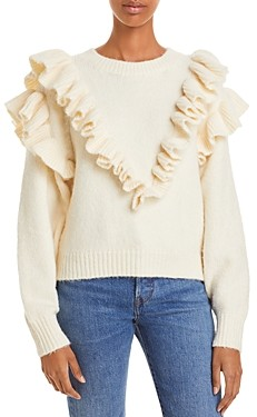 Lost + Wander Versace In Mind Ruffled Sweater