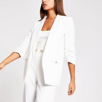 River Island Womens White pocket detail blazer