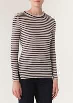 Vanessa Bruno Iroya Sweater In Ecru Marine Stripes