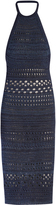 Balmain Halterneck crochet midi dress