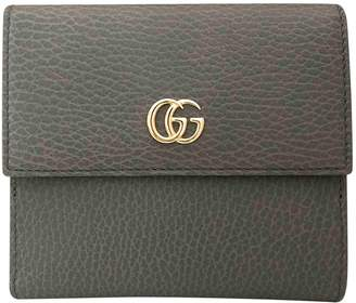 Gucci Marmont Grey Leather Wallets