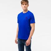Paul Smith Men's Cobalt Blue Organic-Cotton Flocked PS Logo T-Shirt