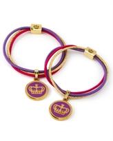 Juicy Couture Two Charm Hair Elastics, Purple