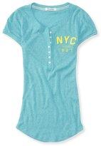 Aeropostale Womens Nyc 1987 Henley Shirt M