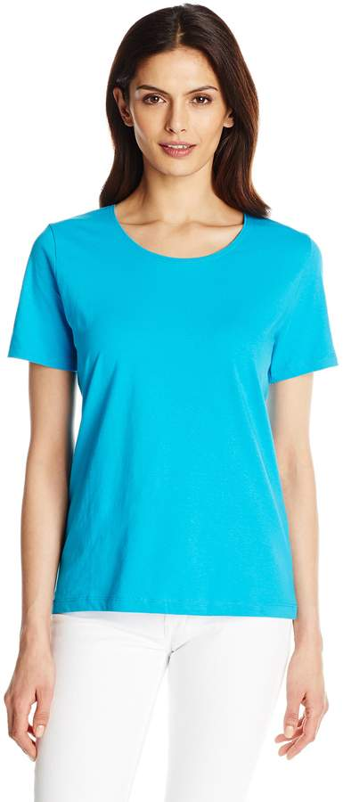 Fresh Women's Basic Short Sleeve Solid Scoop Neck Top