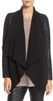 Blank NYC BLANKNYC 'All or Nothing' Knit Drape Faux Leather Jacket
