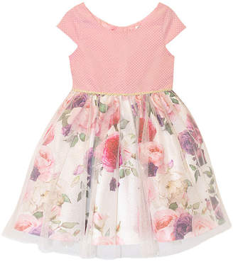 Nannette Baby Girls Short Sleeve Cap Sleeve Party Dress - Toddler
