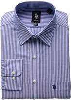 U.S. Polo Assn. Men's Blue and Thin White Stripe