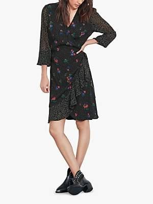 Hush Pandora Floral Spot Wrap Dress, Flower Dot/Tiny Floral