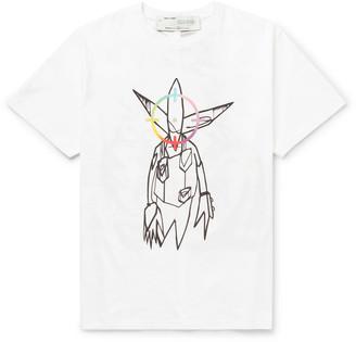 Off-White +futura Oversized Printed Cotton-Jersey T-Shirt
