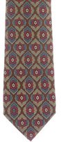 Chanel Mosaic Print Silk Tie