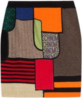 Moschino Printed Virgin Wool Skirt