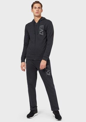 Ea7 Cotton Jersey-Fleece Tracksuit With Logo