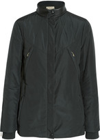 Tod's Leather-trimmed faille jacket
