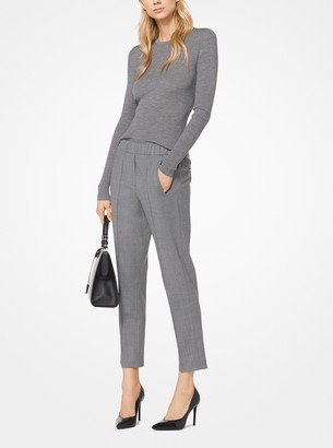 Michael Kors Stretch Tropical Wool Pants