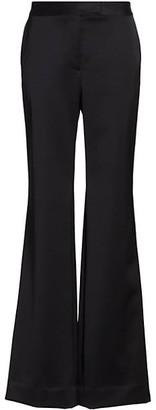 Marina Moscone Slim Flare Wool-Blend Trousers