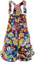 Love Moschino printed dungarees - women - Cotton/Spandex/Elastane - 42
