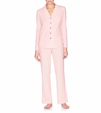 Naked Women's Essential Cotton Spandex Long Sleeve Button-up Pajama Set